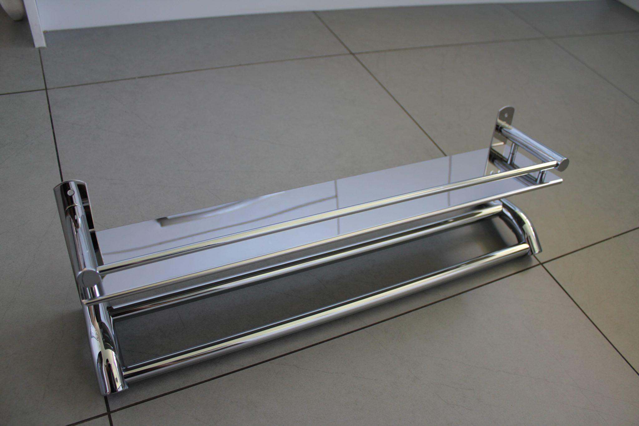 Stainless Steel Bathroom Shelf With Towel Rail Dehome