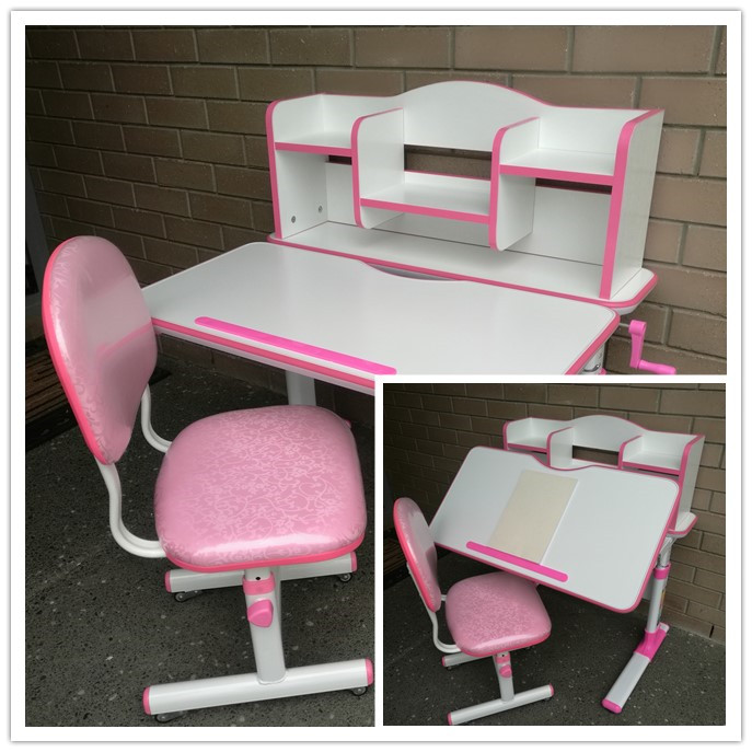 Terrific Pink White Study Desk With Chair Dehome Furniture Uwap Interior Chair Design Uwaporg